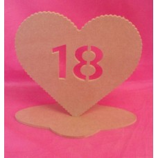 4mm MDF Standing Heart age 18