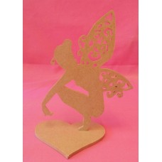 4mm Thick sitting fairy with fancy wings 150mm tall