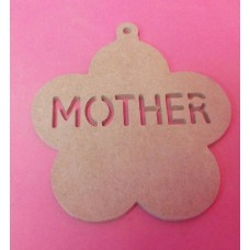4mm MDF Mother Daisy plaque