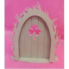 4mm Thick MDF Clover leaf fairy door
