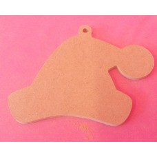 4mm Thick MDF Santa hat with loop starts at 50mm