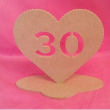 4mm MDF Standing Heart age 30