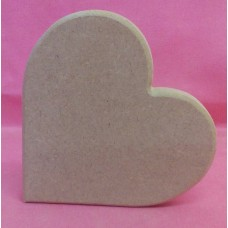 12mm MDF Side Standing Heart 150mm in size pack of 2