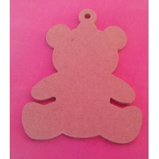 MDF Teddy Bear 150mm in size pack of 3