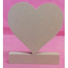 12mm  MDF Freestanding Heart on base 80mm wide Pack of 3