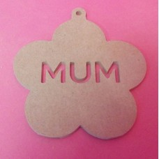 4mm MDF Mum daisy plaque