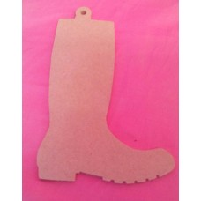 4mm MDF Wellington Boot 170mm tall