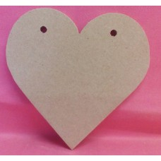4mm Thick MDF Bunting Heart 100mm in size QTY 50