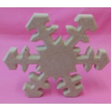18mm Thick MDF Snowflake 100mm size