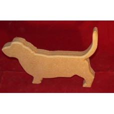 18mm Thick MDF Small Basset Hound Dog