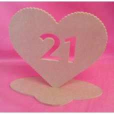 4mm MDF Standing Heart age 21