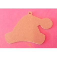 4mm Thick MDF Santa hats 100mm size pack of 5