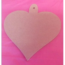4mm MDF Heart with loop 150mm pack of 3