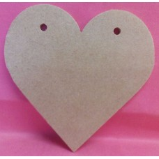 4mm Thick MDF Heart with 2 holes