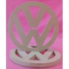 MDF VW Badge Large 150mm pack of 2