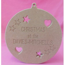 18mm MDF Engraved Standing Bauble