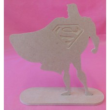 4mm Thick MDF Super man Standing plaque