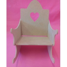 4mm Thick MDF Rocking Chair kit for dolls