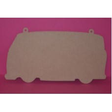 4mm Thick MDF Camper Van Chalk Board Shape 300mm wide