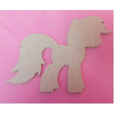 4mm MDF Fantasy Pony 100mm in size pack of 3