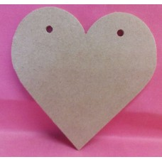 4mm MDF Heart with holes 250mm in size QTY 3