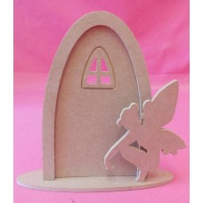 4mm Thick Fairy door with Arched window and sitting fairy