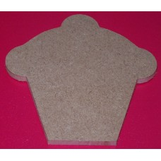 4mm MDF Cupcake 100mm in size pack of 3