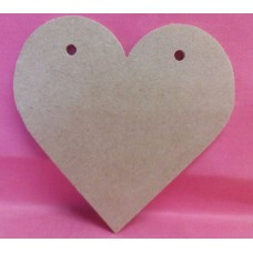 4mm MDF Heart with holes  200mm in size QTY 5