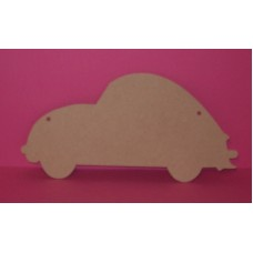 4mm Thick MDF V.W Beetle car Chalk Board shape 300mm wide