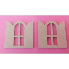 4mm Thick Mini Windows pack of 3 in 50mm size