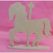 4mm Thick MDF  Merry go round Horse On stand pack of 3
