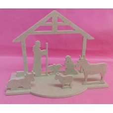 4mm Thick MDF Nativity set kit