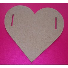 4mm Thick MDF Side slot heart 100mm in size pack of 5
