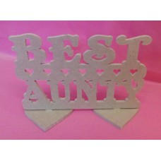 4mm MDF Best Aunty plaque