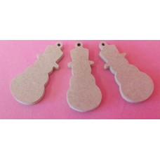 4mm Thick MDF Snowmen 50mm size pack of 5