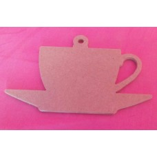 4mm MDF Cup and saucer 100mm pack of 3