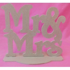 4mm Thick MDF Mr and MRS Square shape plaque