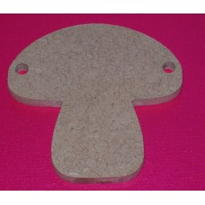 QTY 10 4mm  Toadstool/Mushroom shape Bunting 50mm size
