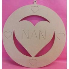 4mm Thick MDF NAN Round Plaque