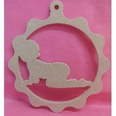 4mm Thick MDF Hanging baby plaque