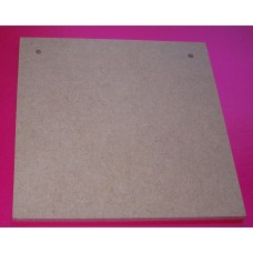 4mm thick MDF Square Plaque 125mm in size