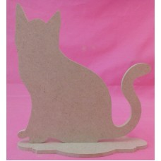 4mm Thick MDF Cat on a base 150mm tall pack of 2