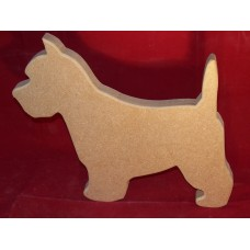 18mm Thick MDF Med Westie Dog