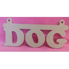6mm MDF  DOG plaque with hanging loops 200mm wide