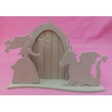 4mm Thick MDF Fairy tale Door with dragon