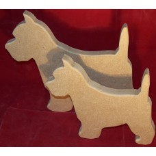 18mm Thick MDF Pair of westie Dogs