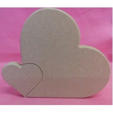 12mm MDF Engraved heart 130mm tall