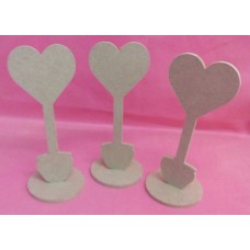 4mm Thick MDF Small flower pot table number placeholder