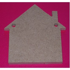 QTY 10 4mm thick House  Bunting 50mm size