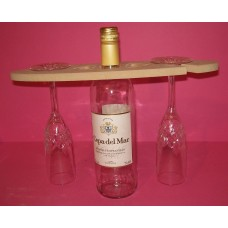 12mm  MDF Wine bottle and glass holder 350mm long QTY 5